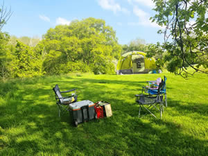 Organic Holidays - Camping at Thistledown Farm, Tinkley Lane, Nympsfield. GL10 3UH