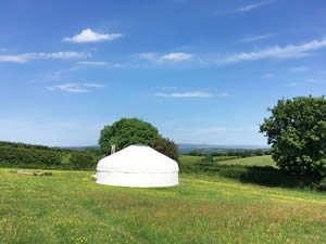 Organic Holidays - Devon Yurt Holidays, Borough Farm, Kelly. PL16 0HJ