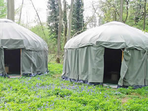 Organic Holidays - Four Yurt Eco-Camp, Abbey Home Organic Farm, Cirencester. GL7 5HF