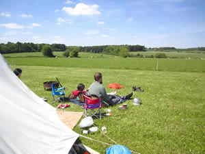 Organic Holidays - Green Field Campsite, Abbey Home Farm, Cirencester. GL7 5HF