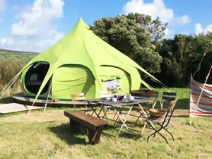 Organic Holidays - Keigwin Glamping, Morvah, St Ives. TR19 7TS
