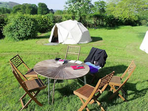 Organic Holidays - Racquety Farm Glamping, Wyecliff, Hay on Wye. HR3 5RS